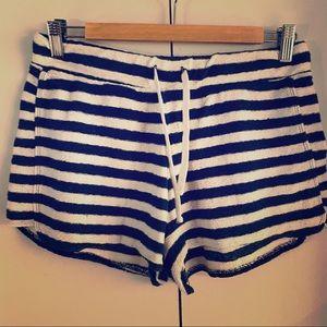 Cute Stripe Terry Shorts